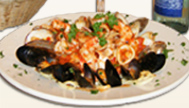 Linguini and Mussels in a red or white sauce