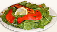 Grilled Salmon and Baby Spinach Salad